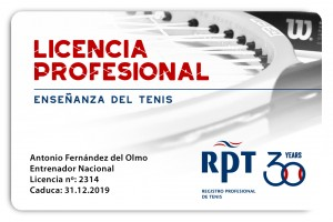 licencia profesional club card